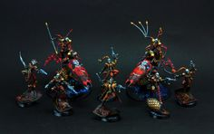 "HopeRiver's Valley: Harlequin army. Red part - ""Hearts"""