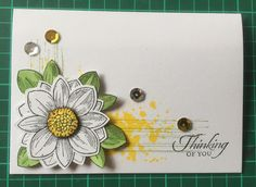 Thinking of You card, using Petal Potpourri, gorgeous grunge, wetlands, flower medallion punch