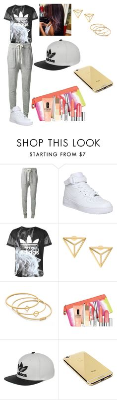 """#23"" by grase07 ❤ liked on Polyvore featuring James Perse, NIKE, adidas, Madewell, Clinique and Goldgenie"