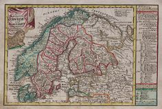 SCHREIBER'S MAP OF SCANDINAVIA || Michael Jennings Antique Maps and Prints