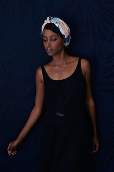 Scarf / Foulard MaPoésie par Elsa Poux, Spring 2015 worn as headband.