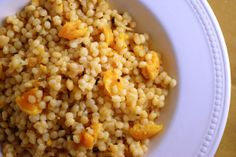 Always Order Dessert: Coconut Israeli Couscous with Dried Apricots  #thanksgiving #partycrafters #friendsgiving