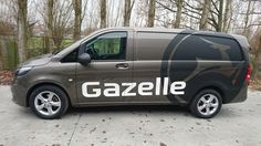 Commercial Vehicle Signage, Van signwriting, van signage & semi car wrap for Gazelle - matte black & matte white vinyl