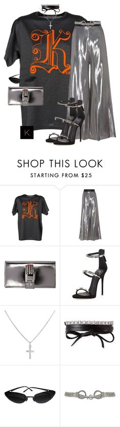 """Untitled #3780"" by kimberlythestylist ❤ liked on Polyvore featuring Christopher Kane, Opening Ceremony, Giuseppe Zanotti, Sterling Essentials, Fallon, Chanel and Moschino"