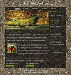 HTML5 Animals HTML Template  #Blog #Business #Nature #Personal #Portfolio Link: https://goo.gl/RVncd6