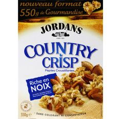 Jordans Cereals Country Crisp, with hazelnuts, pecan, Brazil nuts and almonds.... delicious!