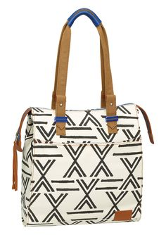 Nomad Tote - Ivory / Black | Nixon Womens Bags & Wallets