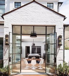 "198 Likes, 6 Comments - J.Fisher Interiors (@jfisherinteriors) on Instagram: ""These glass doors allow for tons of sunlight to brighten the entire space 📸: @brandonarchitects…"" Gazebo, Decks, Kiosk"