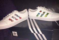 eb48b1e3eea9 Another happy customer with my  handpainted  adidas  stoneroses email me at  cashythepainter gmail.com for requests or info hurry to get your shoes in  time ...