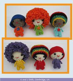 Ravelry: Funky Guys PDF Amigurumi Crochet Pattern pattern by Sayjai Thawornsupacharoen