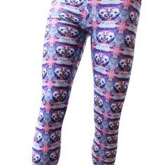 Skull & Crystal Leggings. #colorful #fashion #pant 9thelm.com