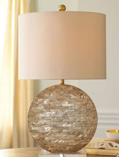 Horchow's Mother of Pearl Lamp