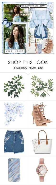 """Sky Blue Surrounded By Nature"" by angelstylee ❤ liked on Polyvore featuring WALL, Office, Miss Selfridge, Marc Jacobs and Olivia Burton"