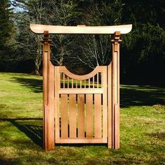 Tori gate could be for Japanese garden. But tori gates and Buddhas should not be placed together. Wooden Garden Gate, Wooden Gates, Garden Doors, Japanese Fence, Japanese Plants, Japanese Gardens, Garden Pond Design, Bois Diy, Asian Garden