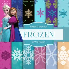 Frozen Digital FROZEN DIGITAL  Frozen by DigitalPaperStore on Etsy