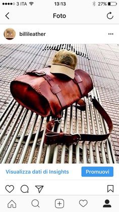 Completely hand made satchel bag. This great bag is also completely hand-stitched with the best leather that comes from Tuscany. The buckles are made in pure bronze and the bag will last more than one life! It is great to use in the field or for every day use. Dim. 42x32x10cm