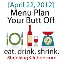 A new healthy menu plan for the week of April 22nd! Printable grocery list, too!