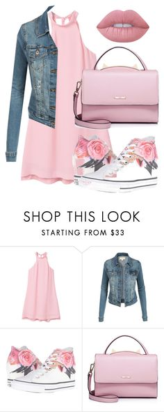 """""""magesty"""" by diamondsandcouture on Polyvore featuring MANGO, LE3NO, Converse, WithChic and Lime Crime"""
