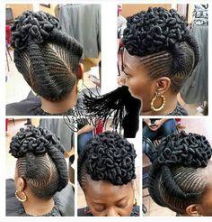 Braided twisted mohawk up do cute hair i like pinterest 101 natural hair updos for long hair short solutioingenieria Choice Image