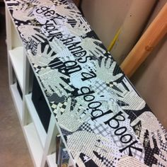 Decoupage newsprint and paper. Could make in the shapes of clothing on a clothesline for the laundry room: by sabrina