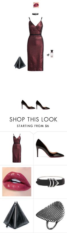 """""""Без названия #657"""" by yulia-k ❤ liked on Polyvore featuring Cinq à Sept, Christian Louboutin, Alexander Wang, Givenchy, McQ by Alexander McQueen and Georg Jensen"""