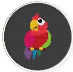 Buy 4 get 1 free ,Buy 6 get 2 free,Counted Cross stitch pattern,Cross-Stitch PDF,parrot , zxxc0137. $4.00, via Etsy.