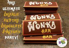 The Ultimate Classroom Party: Charlie and the Chocolate Factory (Plus printable Wonka Bar FREBBIE!)