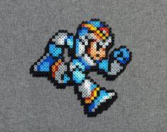 Mega Man Perler Bead Sprite Big Eye Robot by SquareMart on Etsy