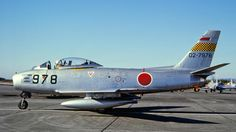 shows my photos of the North American Sabre taken in Japan during the and the Ww2 Aircraft, Military Aircraft, Sabre Jet, Show Me Photos, Military Weapons, Cold War, Air Force, Fighter Jets, Japan