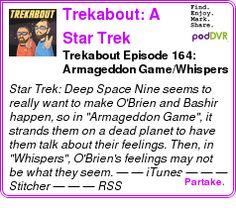 #UNCAT #PODCAST  Trekabout: A Star Trek Podcast    Trekabout Episode 164: Armageddon Game/Whispers    LISTEN...  http://podDVR.COM/?c=76119584-9ebf-2ee4-3f4d-da88effab171