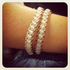 Chen Rai Quartz Tan Wrap Bracelet