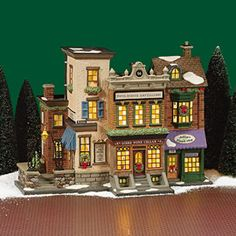 "Department 56: Products - ""5th Avenue Shoppes"" - View Lighted Buildings  wish list"