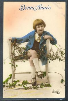 PZ085-ART-DECO-Cute-BOY-WHITE-SOCKS-KITSCH-FRENCH-Tinted-PHOTO-pc