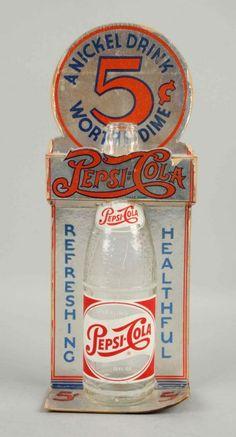 Pepsi-Cola Cardboard Bottle Display