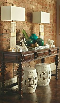 Sideboard with colonial influences