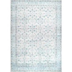 nuLOOM Rio Vintage Aqua 4 ft. x 6 ft. Area Rug-RZBD19A-406 - The Home Depot Area Rugs For Sale, Rug Sale, Aqua Rug, Transitional Rugs, Area Rug Sizes, Grey Rugs, Cool Rugs, Home Decor Inspiration, Rugs Online
