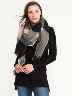 Old Navy flannel scarf - Mauve