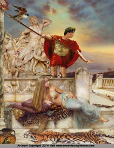 """""""Helen and Paris""""  Greek Myths & Legends; Paintings of Classical Mythology and a brief introduction to Greek & Roman, Mythology featuring contemporary Illustrations by Howard David Johnson"""