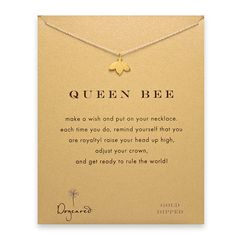 Queen bee Dogeared necklace @Nikki Ristom