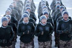 中国人民解放軍、まつ毛も凍るマイナス30度で訓練(画像)