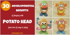 Lots of ways to play with Potato Head and encourage your child's development!