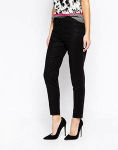 Enlarge Oasis Cotton Sateen Belted Trouser