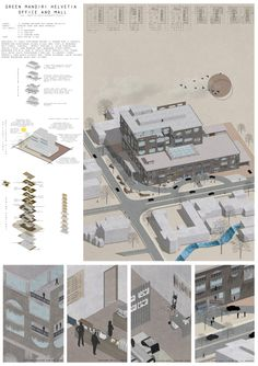 arch design studio iv project : a mid-rise building to provide some office rents and mall. i do a creme-painting. Mall, Floor Plans, Concept, Studio, Architecture, Building, Projects, Poster, Painting