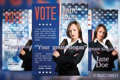 vote election flyer template by krukowski graphics on creativemarket