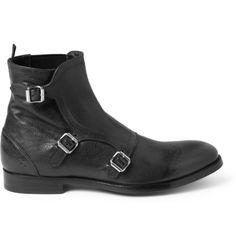 Alexander McQueen Triple Monk-Strap Brogue Boots | MR PORTER