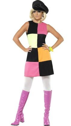 1960s Groovy Girl Costume - Historical Costumes Fancy Dress Costumes For  Women 5b0a5dd2e82