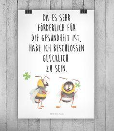 Süßer Spruch für die Wohndeko / art print with cute saying, home decoration made by small-world via DaWanda.com