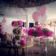 Dogum gunu temasi- pastasi- dekorasyon- pembe- altinsari- balonlar- birthday party theme - pink and gold- baby -shower - bebek- hosgeldin- bridal