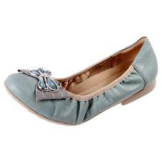 Brazilian Piccadilly Womens Comfortable Ballet Flats 100157 Aqua   The Shoe Link