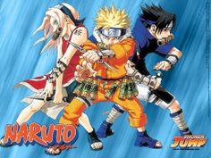 Naruto (ナルト) é uma série de animê e mangá criada por Masashi Kishimoto e serializada na revista semanal Weekly Shōnen Jump desde 1999. Recebeu adaptação para animê em 2002, produzida pelo Studio Pierrot e exibida pela TV Tokyo, seguida de Naruto Shippuden em fevereiro de 2007, correspondente à segunda parte do mangá.   /   Primeira fase (220 episódios)